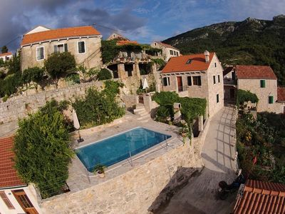 Photo for Mediterranean Stone House Villa with Pool in the Heart of the Island Hvar
