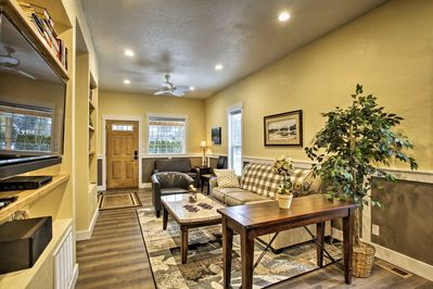 After a day at the beach, kick back in the spacious living area.