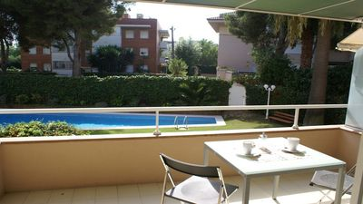 Photo for Sitges residential area with pool