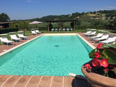 Photo for APARTMENT WITH POOL AND HANDLING IN AGRITURISMO