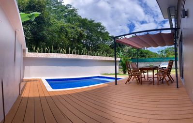 Photo for TROPICAL VILLA UVITA Private pool - A / C -Walking distance to the beach!