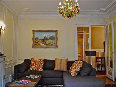 Photo for HEMMINGWAY'S HOOD, STEPS TO LUXEMBOURG GARDENS, LARGE 2 BED, LUXURY W/ AC