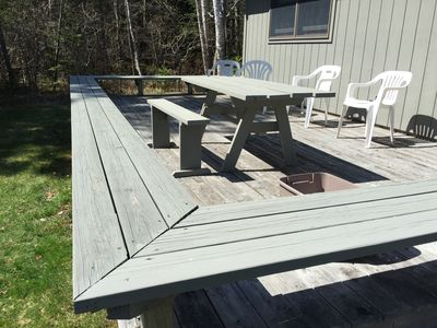 Deck will have a gas grill