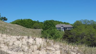 Photo for Secluded Hillside Sanctuary on a private dune overlooking Lake Michigan