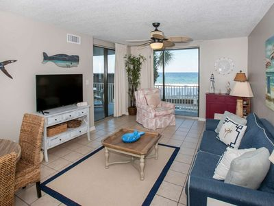 Photo for Gulf-Front 3/2, Slps 8, Blcny, W/D, WiFi,Pool/Hot Tub/Fit Ctr/BBQ, Free Activities - Romar Place 202