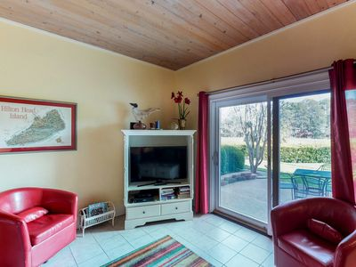 Photo for Dog-friendly townhouse with shared pool, just a short drive to the beach