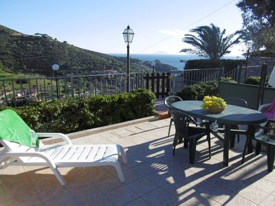Photo for Apartment with Sea View and Terrace; Pets Allowed; Parking on Site