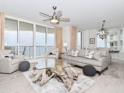 Photo for Expansive private balcony in a modern beachfront condo!