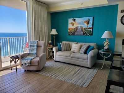Photo for Beautifully appointed beach front luxury condo with spectacular gulf views!