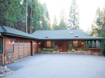 Photo for Luxury Secluded Forest Getaway. 3 acres. 2 beds. 2 baths. 1 hot tub.