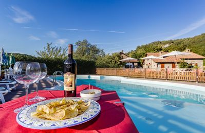Photo for Wonderful private villa with WIFI, private pool, hot tub, TV, panoramic view and parking