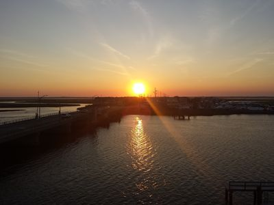 The most amazing sunsets can be enjoyed from private balcony