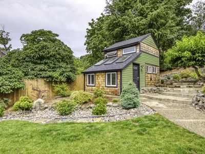 Photo for Beautiful, tiny home w/garden views, private grill - close to Portland