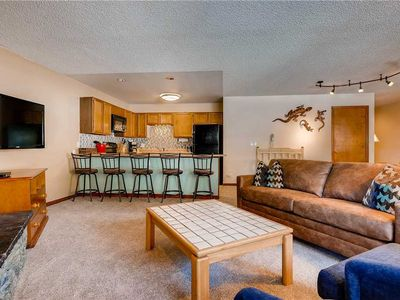 Photo for Spacious condo with mountain rustic feel and great summer time deck!