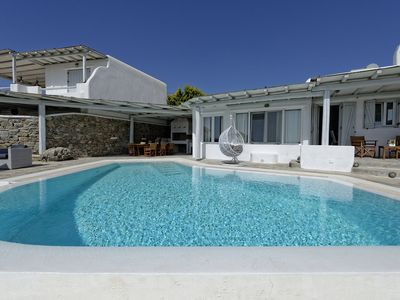 Photo for Villa Cassandra, luxury property in Kalafatis, with sea-view and swimming pool, sleeps up to 10.