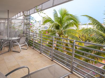 Photo for Ultra Luxurious Balcony Suite Overlooking Collins & Espanola Way, Steps to Beach
