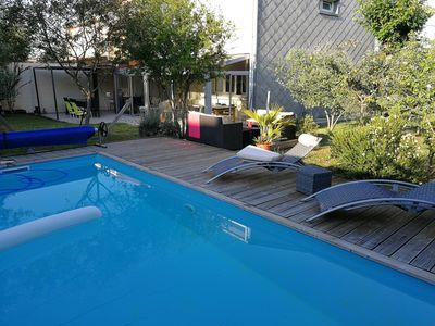 Photo for House with swimming pool 8 people Pessac Bordeaux