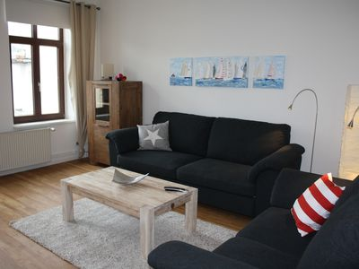 Photo for Tasteful, spacious old building apartment with harbor view, new: washer-dryer