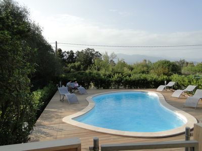 "Photo for ""Casa di Mamma"" Apartment in house, sea and mountain views with pool."