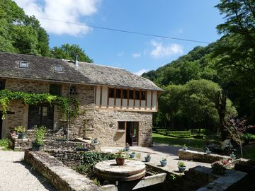 14th Century Mill, Set in woodlands, a 4-bed gite with private pool.