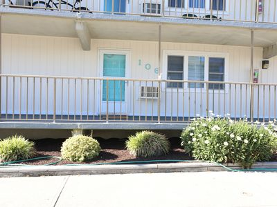 Photo for Ocean Block 2BR/2BR Condo, 1st LvL, 1 min to the beach and restaurants