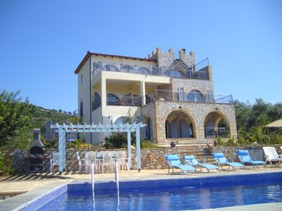 Photo for Luxury 5 Bedroom Villa ,private pool ,Air-conditioning. Spectacular Sea Views.