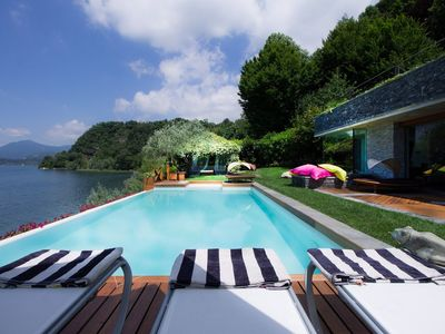 Photo for Villa Isa is a modern luxury villa in Lake Maggiore, with direct access to the lake, 4 bedrooms 5 ba