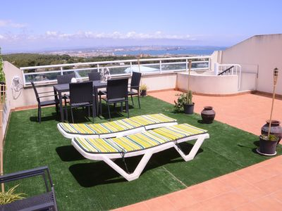 Photo for OFFER SALOU PENTHOUSE LARGE TERRACE  SEA VIEWS, CLIMATISATION PARKING FREE WIFI