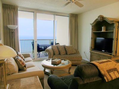 Photo for A1408 King, Queen, Queen, Sofa Sleeper - Direct Gulf View - WIFI - On the Beach