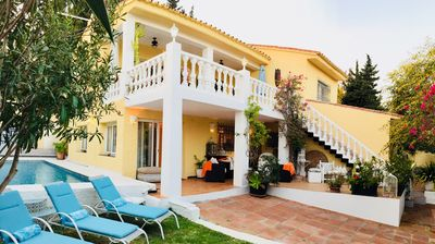 Photo for Family Beachside Villa with own pool, seaviews, private access to the beach