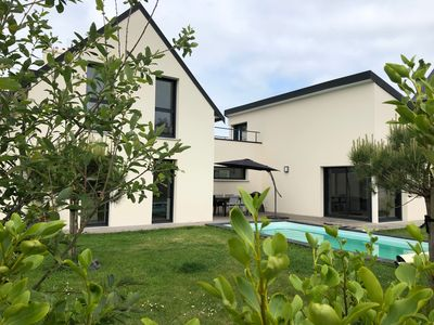 Photo for Villa Morgat, very recent villa with heated and secure swimming pool.