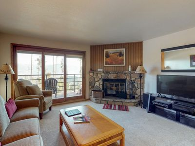 Photo for Convenient condo with shared pool & hot tub, views - close to lake and slopes!