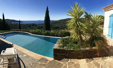 Photo for Beautiful villa in a quiet swimming pool, panoramic view, near sandy beach
