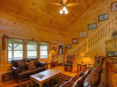 Photo for Log Cabin Minutes to Boone, Hot Tub, Pool Table, Granite, Leather, Views, Fantastic Location