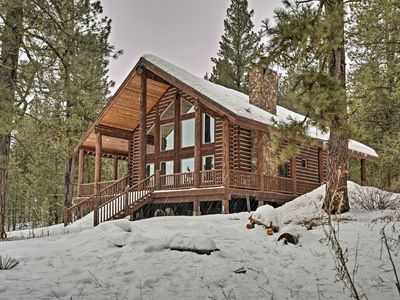 Photo for New Meadows Log Cabin on 9 Acres - Near Brundage!