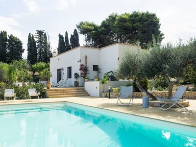 Photo for 3 bedroom Villa, sleeps 5 in Rione Catalano with Pool, Air Con and WiFi