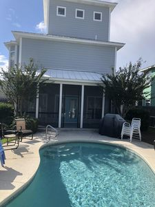 Back porch and private pool