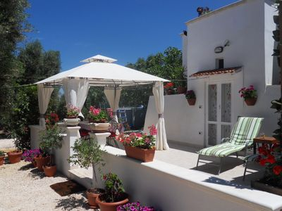 Photo for Romantic Trullo for 2  sea view pool Wifi, wonderful peaceful garden