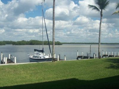 Photo for FORT MYERS BEACH! Bottom Floor NO STEPS!  Waterfront  with possible boat slip.