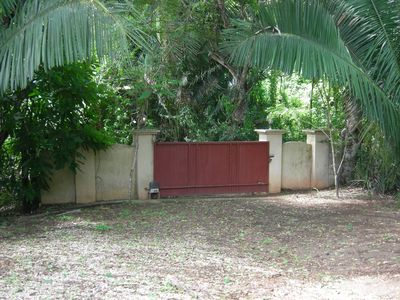 Private gated entrance to the property.