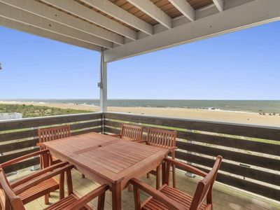 Photo for Dune House Beach Haven (Beachfront Carriage House sleeps 10)
