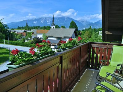 Front balcony with view of Julian Alps.