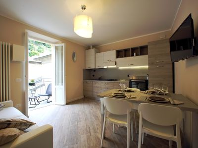 Photo for BELLAGIO CENTER LA PERLA APARTMENT WITH GARAGE!