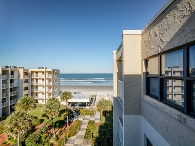 Photo for CR516- Cozy 1 bedroom 1 bath ocean view condo located on the car free beach