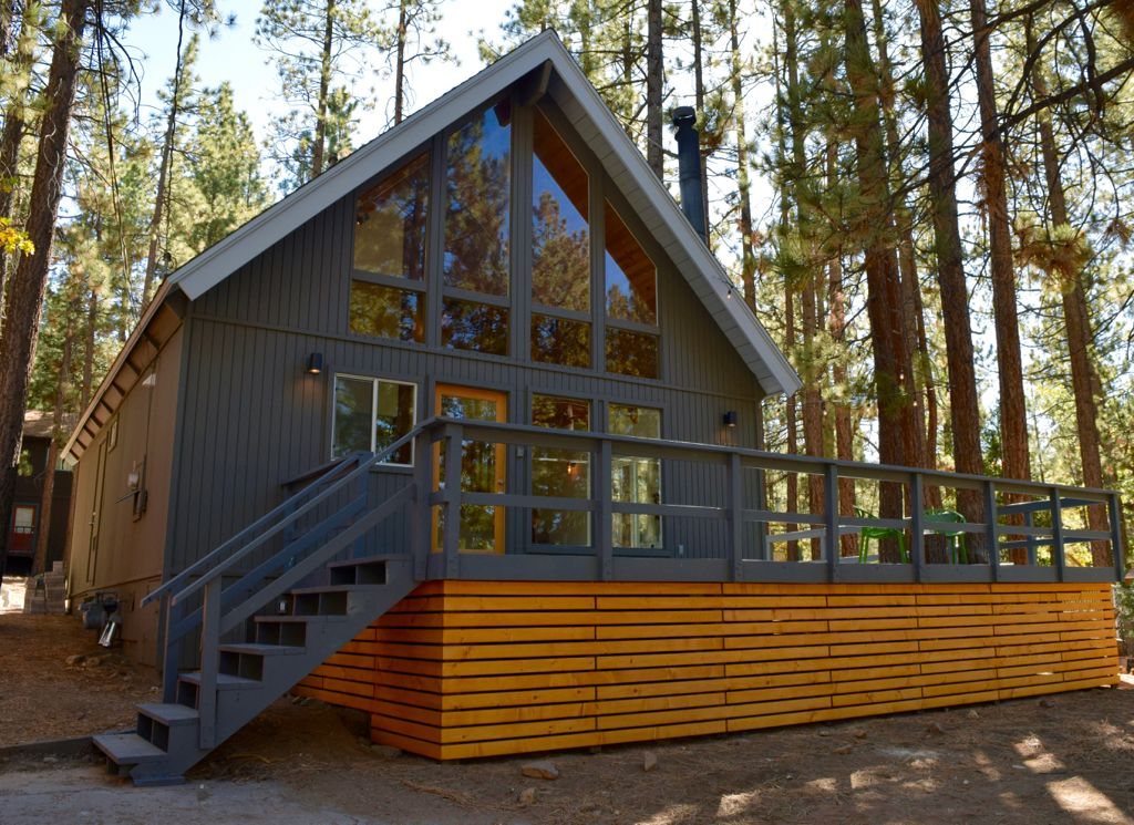 Rancho pines summit mid century mod cabin for rent big Big bear lakefront cabins for rent