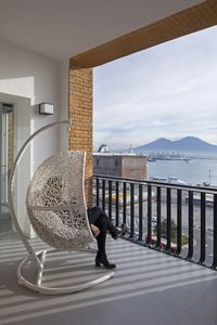 Photo for Seaview Terrace with Hammock and Sofa, best view of the Bay and Mount Vesuvius!