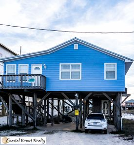 Photo for 1ST TIER BEACH HOUSE WITH AMAZING GULF VIEWS, COZY BEACH COTTAGE GETAWAY!
