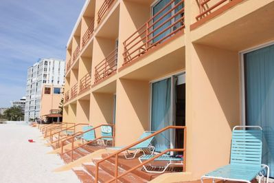Deluxe Beach Front unit! Ground floor unit is subject to availability upon arrival