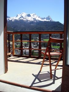 Photo for Magnificent views of Ubaye Valley and Barcelonnette city center 5 minutes walk.