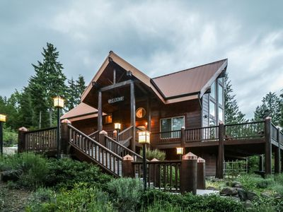 Photo for Beautiful Cedar Log Chalet nestled on 1 1/2 acres above the Hood Canal.